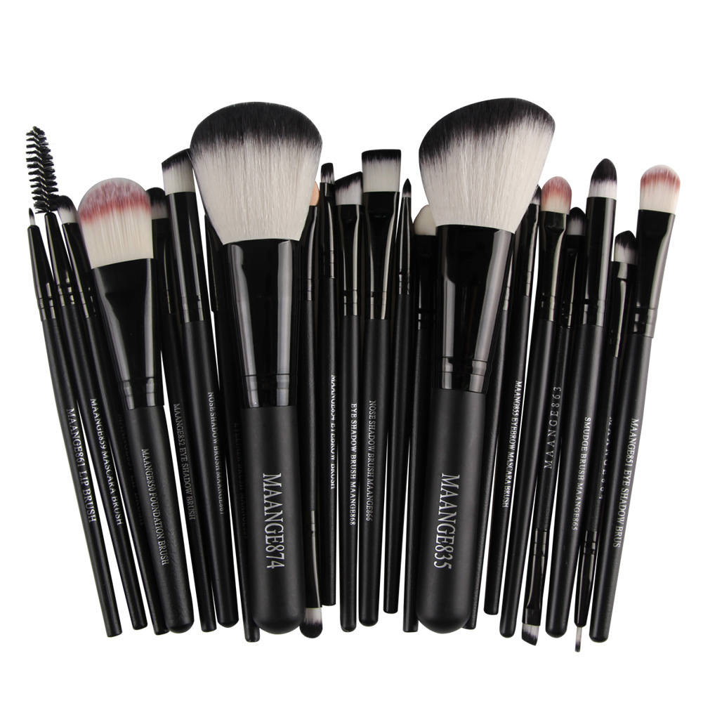 2017 Hot Sale 22pcs Cosmetic Makeup Brushes Set Blusher Eyeshadow Powder Foundation Eyebrow Lip Make Up Brushes Tools professional 22pcs cosmetic makeup brushes set blusher eyeshadow powder foundation eyebrow lip make up brush kit