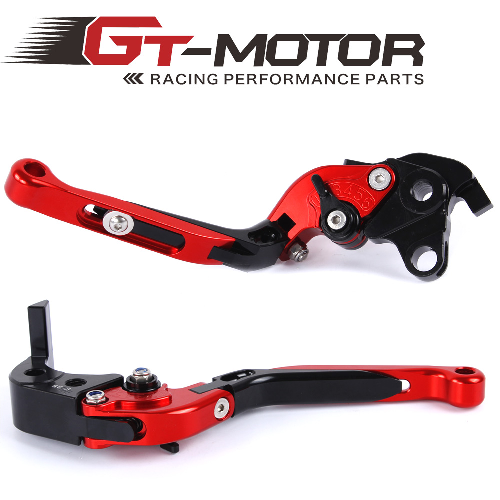 GT Motor - F-35 S-35 Adjustable CNC 3D Extendable Folding Brake Clutch Levers For Suzuki GXSR600  750R 2006-2010 GXSR1000R 05-06 gt motor f 16 dc 80 adjustable cnc 3d extendable folding brake clutch levers for moto guzzi breva 1100 norge 1200 gt8v