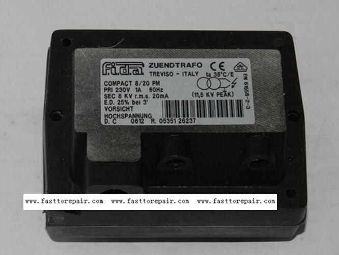 FIDA transformateur d'allumage COMPACT 8/20 PM pour brûleur neuf & Original
