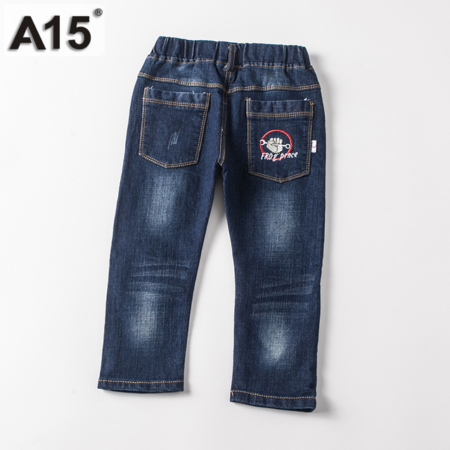 A15 Boys Jeans Long Length Pants 2017 Kids Outwear Toddler Girl Clothing Kids Trousers Jeans Denim Casual Pants Children 2 3 4 5
