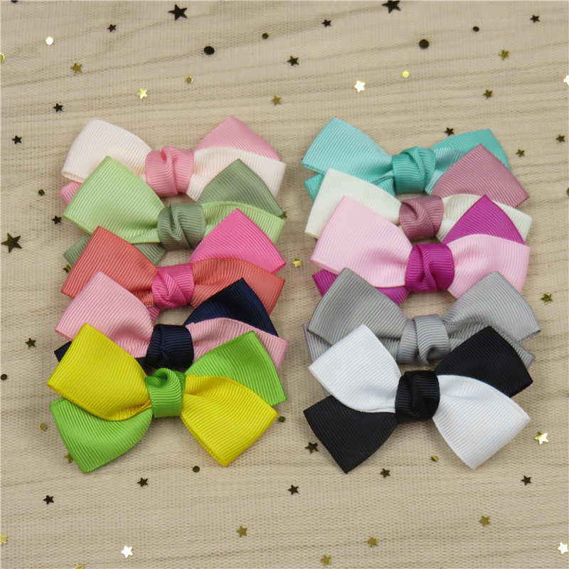 1PCS Two-color Stitching Hairpins Bow For Girl Bohemian Headband Clips Scrunchy Fashion Kid Hair Accessories For Women 2018