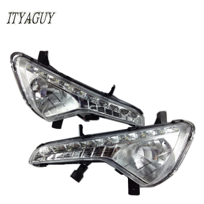2Pcs LED Daytime Running Light Driving Light DRL Fog Lamp Cover For KIAs Sportage DRL 2011 2012 2013 2014 Waterproof Daylights automotive accessories for 2011 2012 2013 ford mondeo 2x led drl driving daytime running day fog lamp light