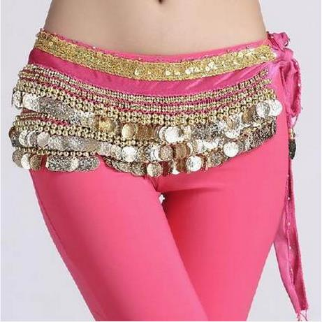 Belly Dance Costumes Senior Velvet 3rows 338 Gold Coins Belly Dance Belts For Women Belly Dancing Hip Scarf