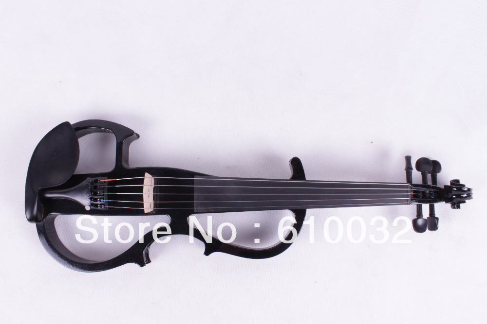 New black    5 string 16'' Electric Viola Silent Solid Wood Body Powerful Sound Case Bow handmade new solid maple wood brown acoustic violin violino 4 4 electric violin case bow included