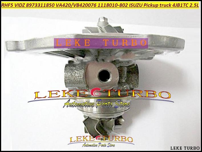 Free Ship Turbo Cartridge CHRA RHF5 VIDZ 8973311850 VA420076 VB420076 1118010-802 For ISUZU Trooper Pickup 4JB1T 4JB1 4JB1T 2.8L