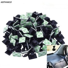KEITHNICO 50pcs Adhesive Car Cable Organizer Clips Cable Winder Wire Management Drop Cord Clamp Tie Fixer Car Cable Holder