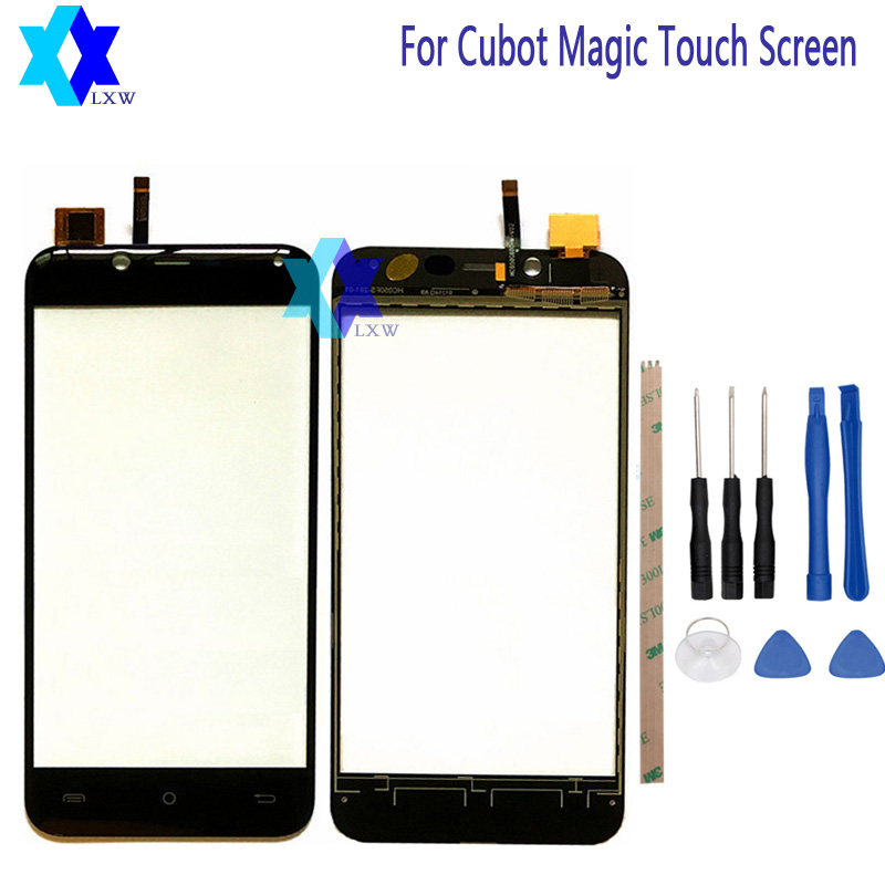 For Cubot Magic Touch Screen Original Guarantee Original New Glass Panel Touch Screen 5.0 inch Tools+Adhesive Stock