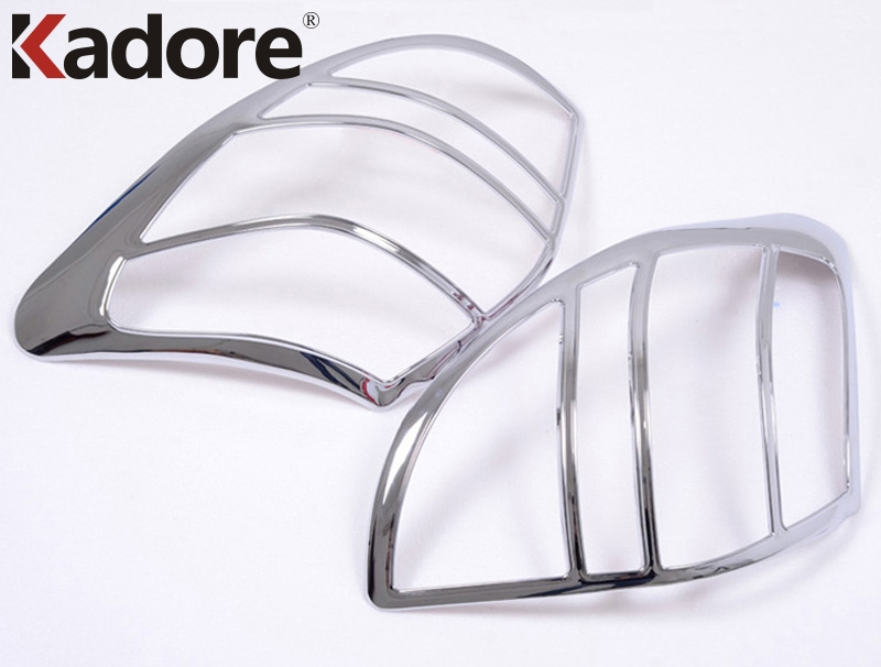 For Toyota RAV4 <font><b>RAV</b></font> <font><b>4</b></font> 2009 2010 <font><b>2011</b></font> High Quality ABS Chrome Rear TailLight Lamp Cover Trim Decoration Auto Accessories 2pcs/set image
