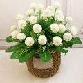 Искусственные растения, 6 вилок, 9 головок, искусственные цветы для свадьбы, пиона, гортензии, цветок для домашней вечеринки, дня рождения, Де...