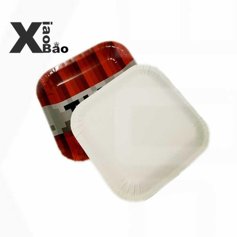 بكسل لعبة حفلة ورقة كأس لوحة حقيبة صندوق راية الألومنيوم بالون حقائب للهدايا لعبة معصمه الكرتون ديكور عيد ميلاد