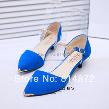 2014 New ol single shoes thick heel medium women's hells shoes shallow mouth sandals