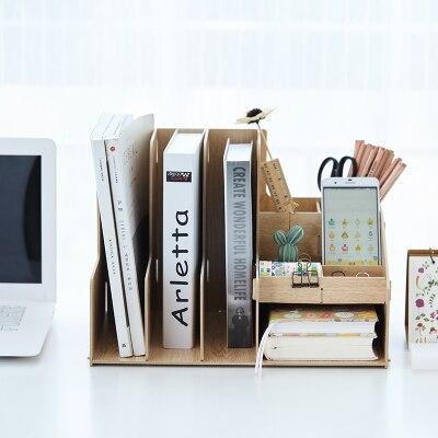 Holz Farbe Buro Schreibtisch Organizer Diy Dokument Datei Schrank