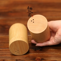 Natural Bamboo Chinese Japanese Toothpick Tube Box Dining Table Portable Can Jar Tea Coffee Food Candy