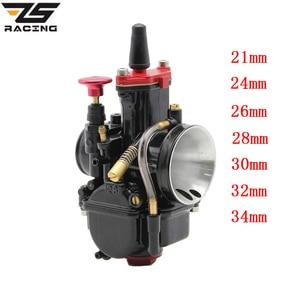 ZS Racing Super Class Motorcycle 21 24 26 28 30 32 34mm For Mikuni PWK Carburetor Carburador Universal Fit All Motorbike ATV