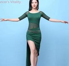 แขนสั้นสำหรับสุภาพสตรีเต้นรำอินเดียCut Outชุดว่ายน้ำLady Bellyเซ็กซี่มุมมองDancewearการแข่งขันการปฏิบัติ