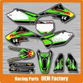 Customized Team Graphics & 3M Backgrounds Decals Stickers KXF KX250F 2004 2005 Racing Motorcycle Dirt Bike