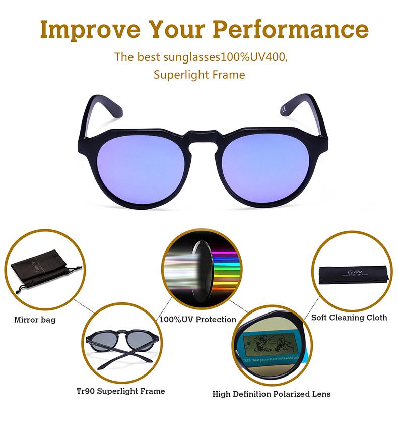 2c1767d0de CARFIA Brand Unisex Retro Oval Sunglasses for men polarized new ...