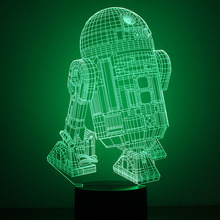 7 Color Changing Light Star Wars Robot