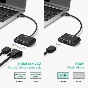 Адаптер Ugreen USB C HDMI VGA type C к HDMI 4K Thunderbolt 3 для samsung Galaxy S10/S9/S8 huawei mate 20/P30 Pro USB C HDMI