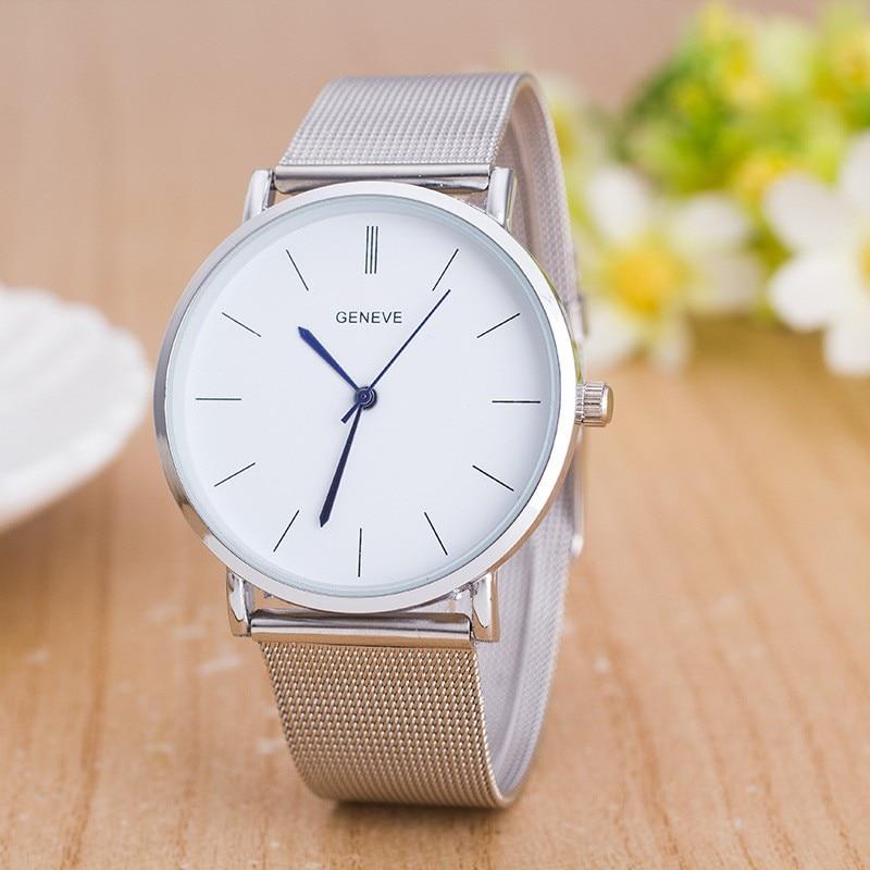 2017 nowa marka odzieżowa męski zegarek luksusowy srebrny pasek z - Zegarki damskie - Zdjęcie 3