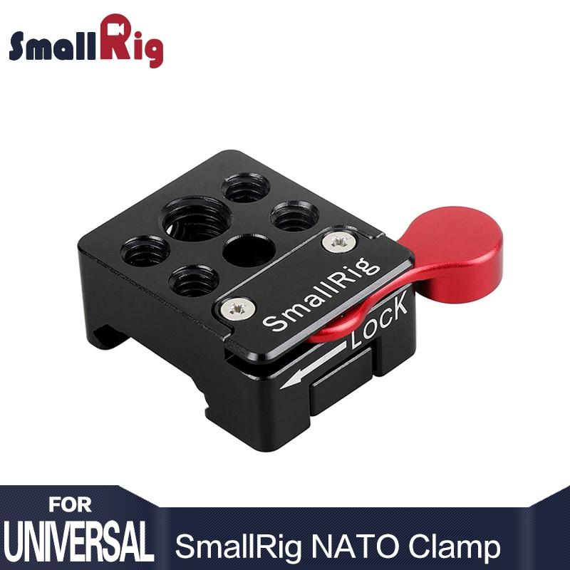 """SmallRig Swat Nato Abrazadera con 1//4/"""" y 3//8/"""" agujeros de montaje estándar para carriles"""