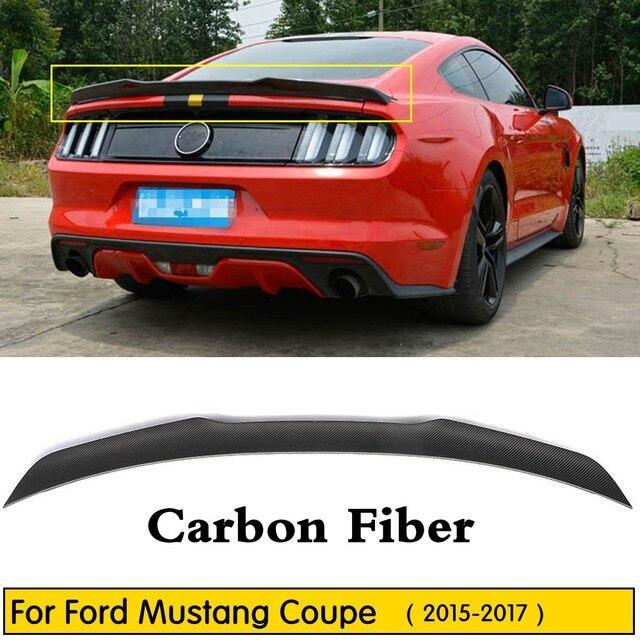 Auto Styling Fit Für Ford Mustang Coupe 2015 2016 2017 Hohe Qualität Carbon Fiber Hinten Boot Stamm Flügel Lip Spoiler