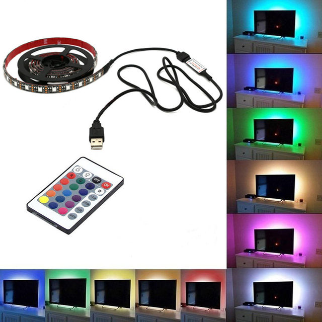 Usb mood light rgb multi color led strip light tv backlight 24 keys usb mood light rgb multi color led strip light tv backlight 24 keys remote control ali88 mozeypictures Images