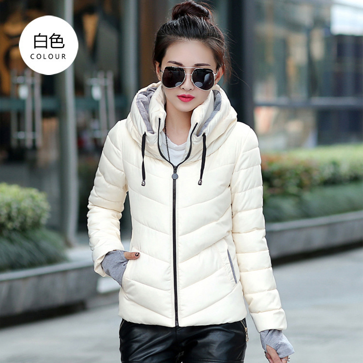 Hooded Down Coat Fashion Women 2015 Short Quilted Jacket New