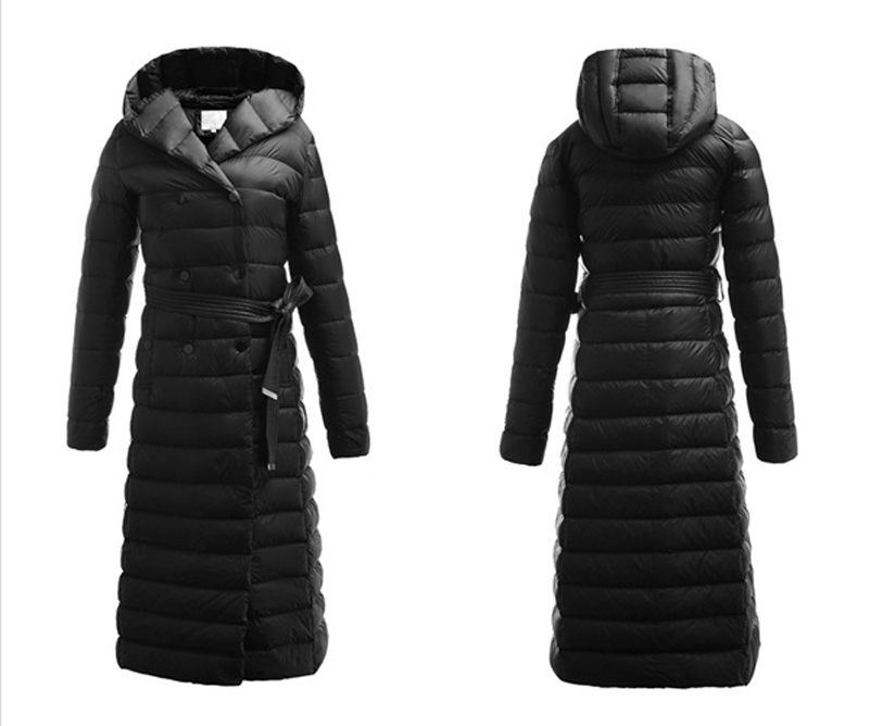 2016 New Winter Ultra Light Down Jacket Women Long Down Coat