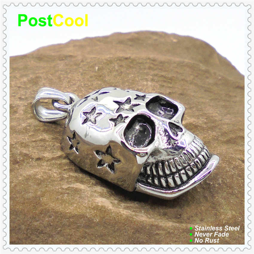 Fashion Jewelry Finding 13 Styles of Stainless Steel Horrible Human Skull Pendants Punk style for DIY Necklace Chain Keyrings 15