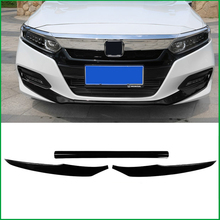 For Honda Accord 10th 2018 2019 ABS Front Head Grille Bottom Protection Bumper Lip Panel Molding Garnish Cover Sticker Trim
