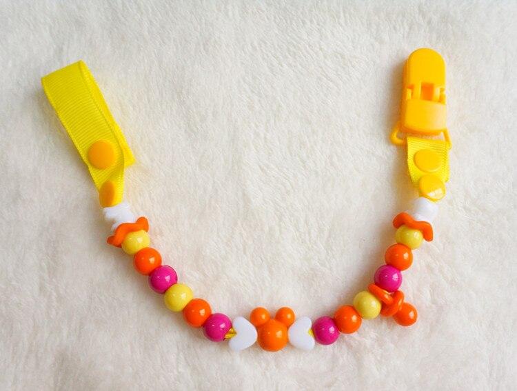 MIYOCAR säker många färger pärlor handgjorda pacifier klipp / - Äta och dricka - Foto 3