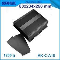 4 teile/los aluminium fall für led-leuchten pulverbeschichtung aluminium gehäuse box gehäuse 80 (H) x234 (W) x250 (L) mm