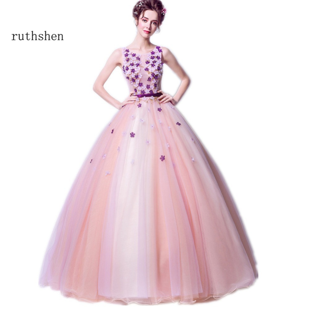 Aliexpress.com : Buy ruthshen Cheap Quinceanera Gowns 2018 Nude Pink ...