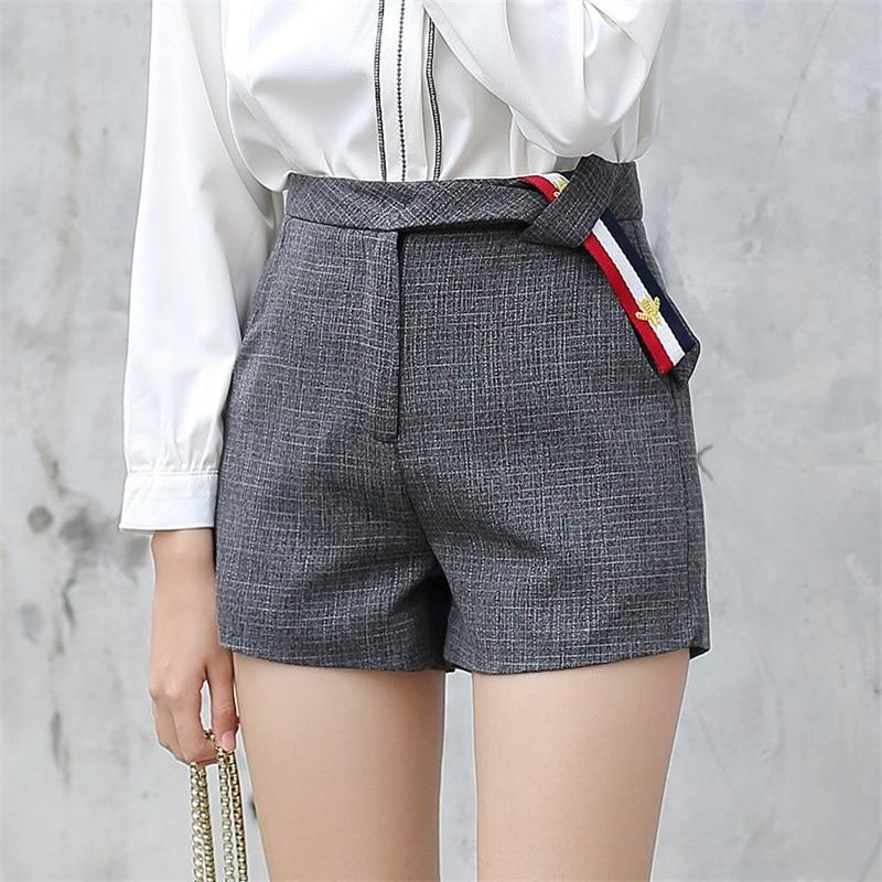 Yichaoyiliang 2017 New Arrivals Women Grey High Waist Shorts ...