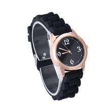 Творческий Простой Дизайн Часы Для женщин силиконовые тонкий ремешок повседневные кварцевые часы Аналоговые наручные Часы