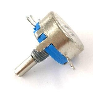 Image 5 - 100 stücke wh5 1A 3 Terminals 4mm Runde Welle Rotary Taper Carbon Potentiometer 470 1K 1,5 K 4,7 K 10K 22K 47K 100K 220K 470K 1M ohm