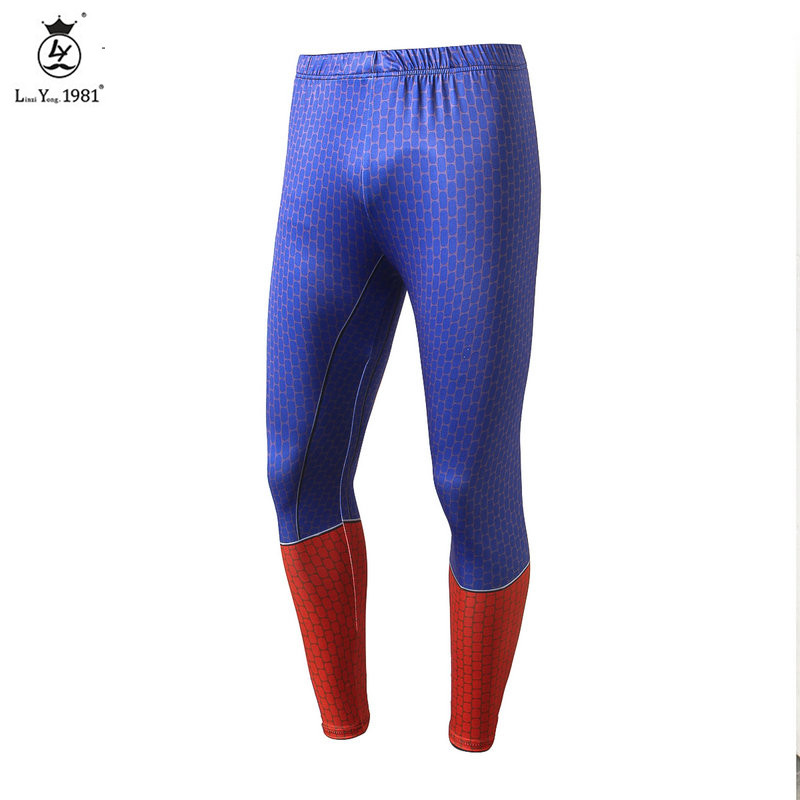 3D printed Jogger Cargo Pants Compression pants men tight sweatpants thin and breathable joggers trousers