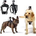 Ir acessórios pro hound dog ajustável fetch harness chest strap belt mount para gopro hero 4/3 +/3/2/sj4000 câmera de ação esporte