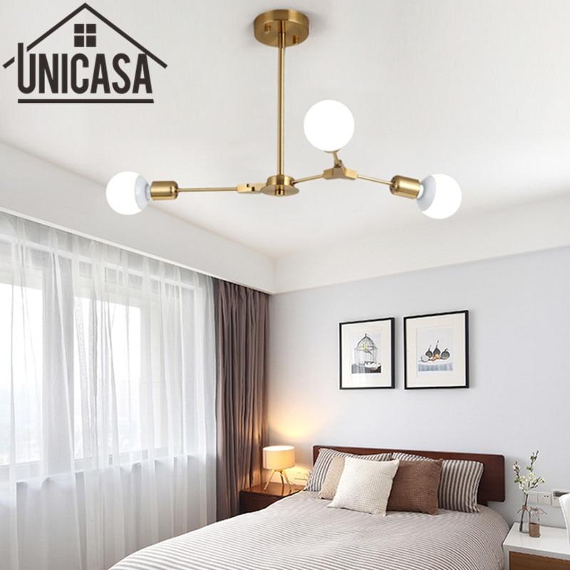 где купить  Modern gold Ceiling Lamp Multiple Rod Wrought Iron Lighting LED Living Room Vintage Pendant Lights Art decorate Industrial Bar  по лучшей цене