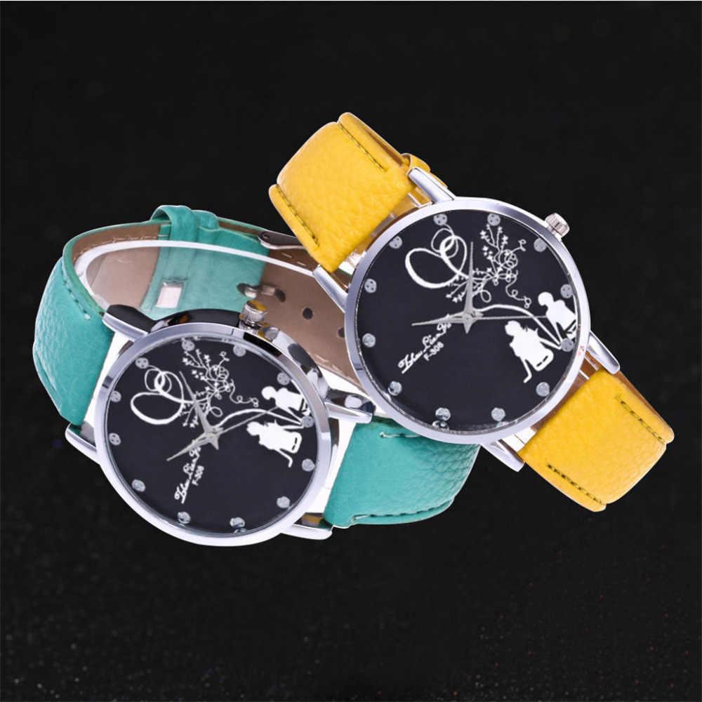 Женские кожаные часы, винтажные наручные часы с маленьким циферблатом, 8 видов цветов, черный, коричневый, розовый, синий цвет, 2019