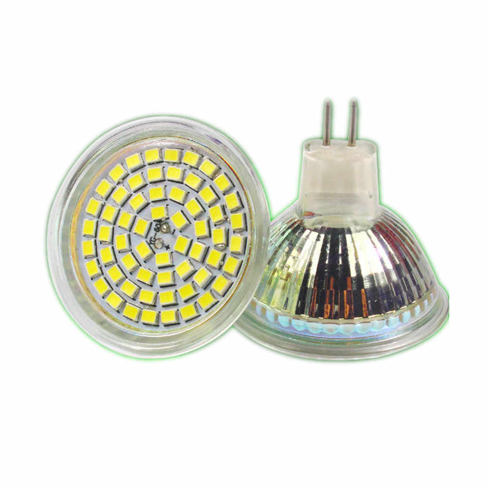 NEW Shenmeile 1pcs MR16 MR11 24LEDS 60LEDS 12V DC LED sportlightig led glass led bulbs 120degree