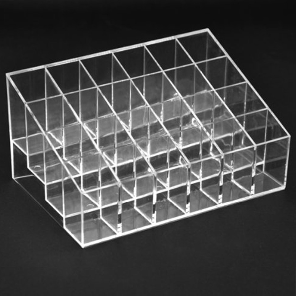 NC Clear Acrylic 24 Lipstick Holder Display Stand Cosmetic Storage Rack  Organizer Makeup Make Up Case Box Container organizador-in Storage Boxes &  Bins from ...