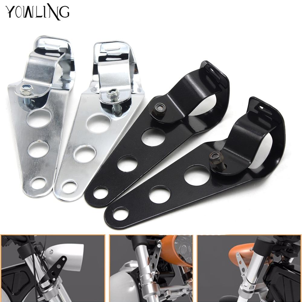 Универсальный мотоцикл 35 мм-43 мм фар кронштейн хром головной свет лампы держатель регулятор вилка зажим для Harley