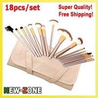 High Quality Makeup Brushes 18pcs Set Nylon Hair Professional Makeup Tools Kit MC00 1801