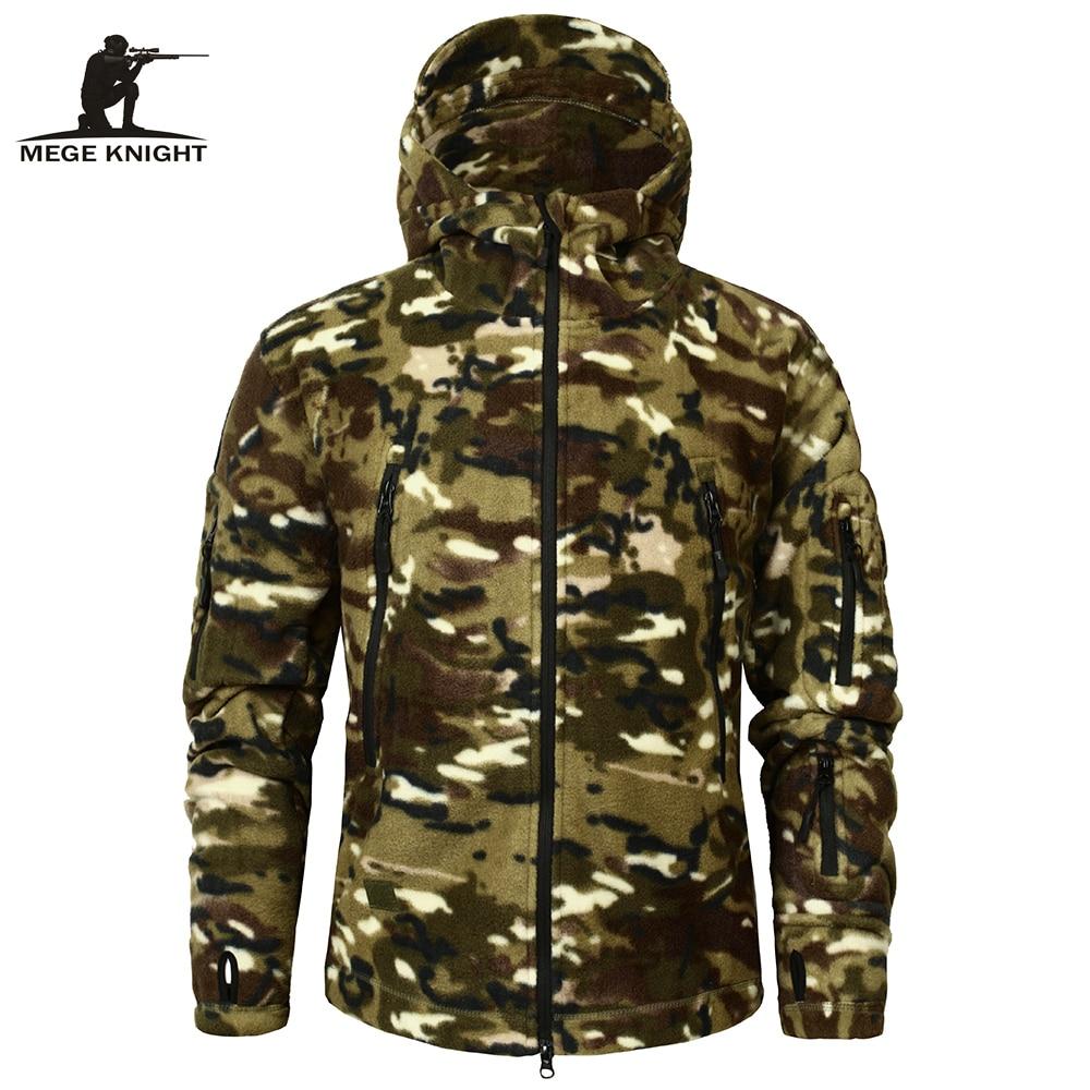 Mege Brand Autumn Winter Military Fleece Camouflage Tactical Men's Clothing Polar Warm Multicam Army Men Coat Outwear Hoodie