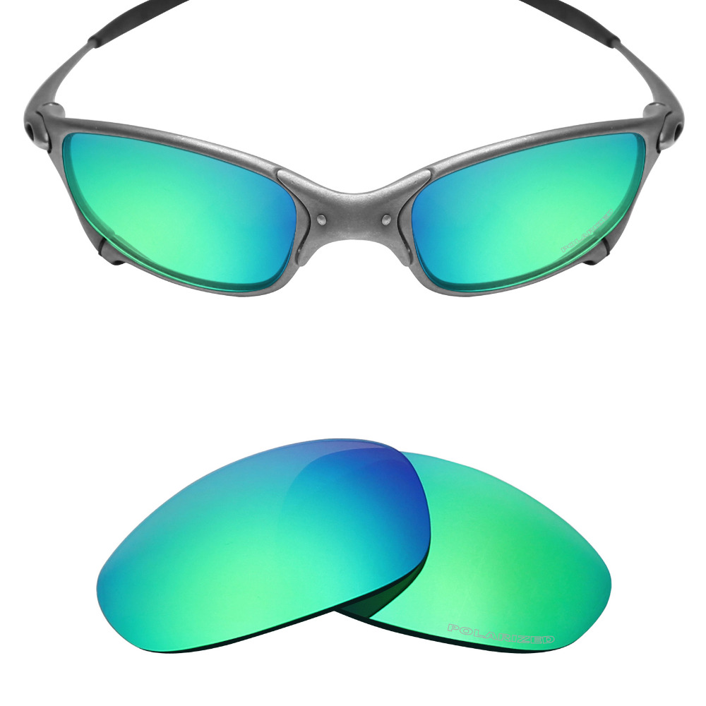 Mryok+ POLARIZED Resist SeaWater Replacement Lenses For Oakley Juliet X-Metal Sunglasses Emerald Green