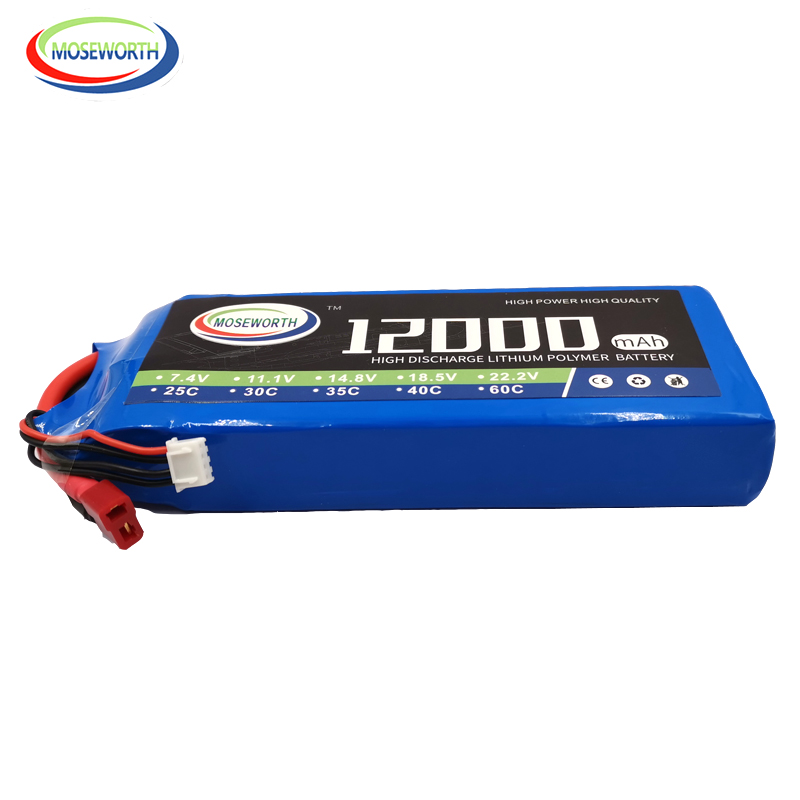 <font><b>3S</b></font> RC Toys <font><b>Lipo</b></font> Battery 11.1V <font><b>12000mAh</b></font> 35C <font><b>3S</b></font> For RC Drone Helicopter Car Boat Quadcopter Airplane Batteries <font><b>LiPo</b></font> 12Ah AKKU image