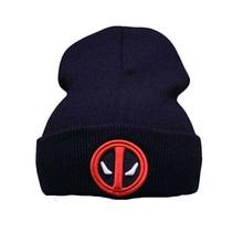 2f99d81be2f KMW42 Movie Deadpool Super Hero Beanie Hat Knit Cap Unisex Adjustable  Cosplay Hats Wade Winston Wilson