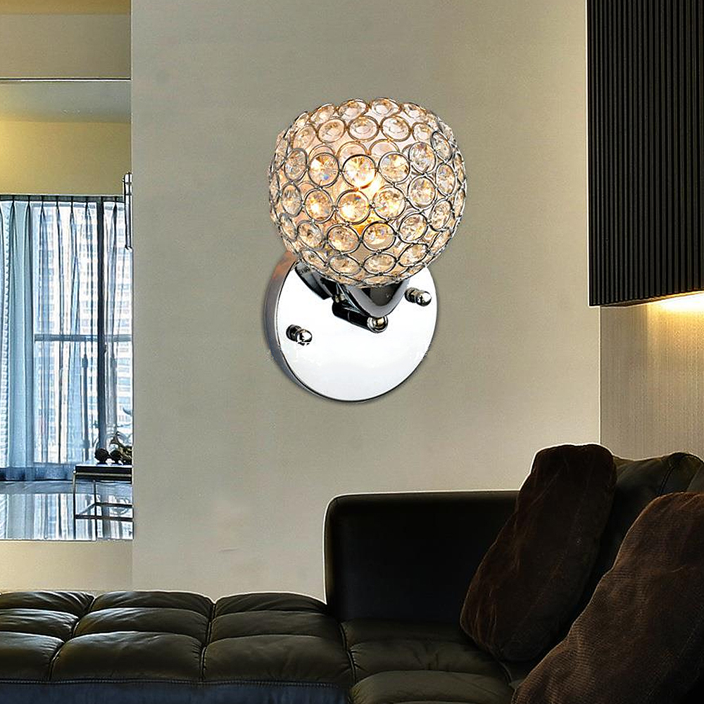 Ժամանակակից բյուրեղապակյա պատի լամպ - Ներքին լուսավորություն - Լուսանկար 6